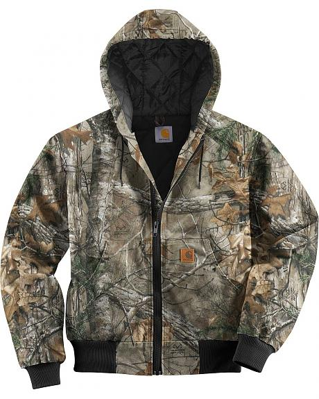 Carhartt Quilted Flannel Lined Camo Active Jacket