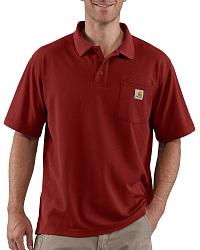 Carhartt contractor 39 s work pocket polo shirt big tall for Big and tall polo shirts with pockets