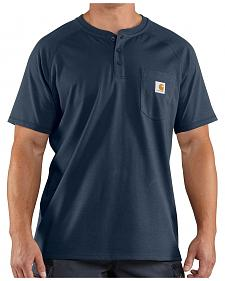 Carhartt Force Cotton Henley Short Sleeve Work Shirt - Big & Tall