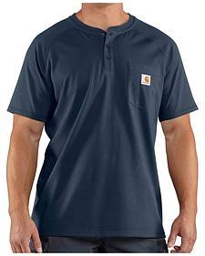 Carhartt Force Cotton Henley Short Sleeve Work Shirt - Big & Tall