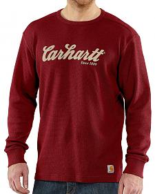 Carhartt Textured Knit Script Graphic Long Sleeve Shirt