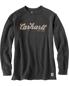 Carhartt Textured Knit Script Graphic Long Sleeve Shirt - Big & Tall