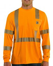 Carhartt Force High-Visibilty Class 3 Long Sleeve T-Shirt - Big & Tall