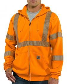 Carhartt High-Visibilty Zip-Front Class 3 Sweatshirt - Big & Tall