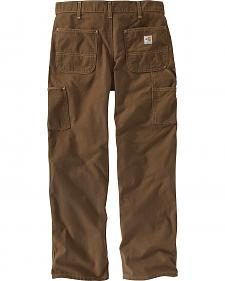 Carhartt Flame Resistant Washed Duck Work Pants - Big & Tall