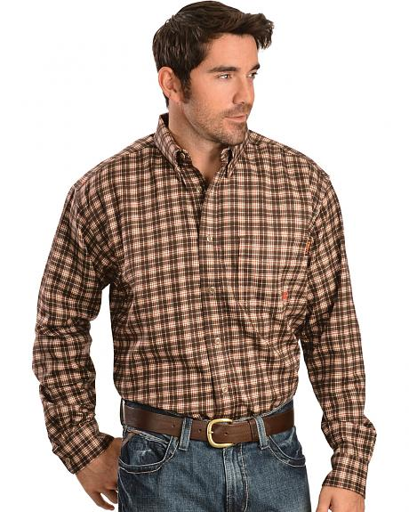 Ariat Work FR Men's Plaid Long Sleeve Flame Resistant Work Shirt