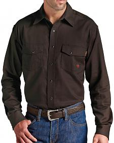 Ariat Men's Flame-Resistant Coffee Work Shirt
