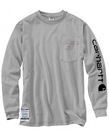 Carhartt Flame Resistant Force Cotton Graphic Long Sleeve Shirt - Big & Tall