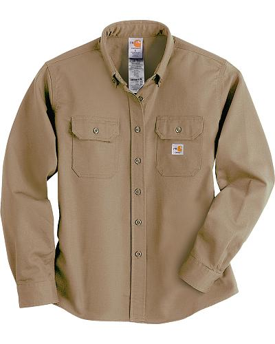 Carhartt Flame Resistant Twill Long Sleeve Top Western & Country WFRS160 KHI