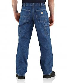 Carhartt Flame Resistant Utility Denim Dungaree Jeans - Big & Tall