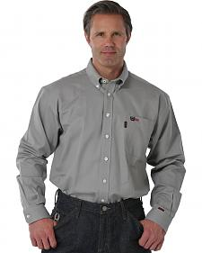 Cinch Men's Flame-Resistant Gray Work Shirt
