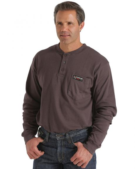 Cinch WRX Flame-Resistant Long Sleeve Henley Shirt