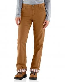 Carhartt Women's Relaxed-Fit Canvas Flannel Lined Fulton Pants