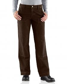 Carhartt Women's Relaxed-Fit Canvas Kane Dungaree Pants