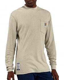 Carhartt Flame Resistant Long Sleeve Sand Work Shirt - Big & Tall