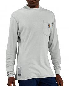 Carhartt Flame Resistant Long Sleeve Grey Work Shirt - Big & Tall