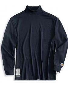 Carhartt Flame Resistant Long Sleeve Navy Mock Turtleneck