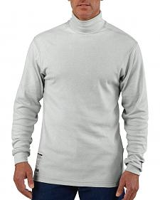 Carhartt Flame Resistant Long Sleeve Grey Mock Turtleneck - Big & Tall