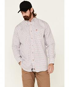 Ariat Flame Resistant Gauge White Plaid Work Shirt