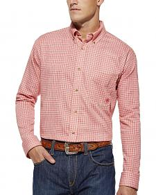 Ariat Flame Resistant Basin Red Plaid Work Shirt