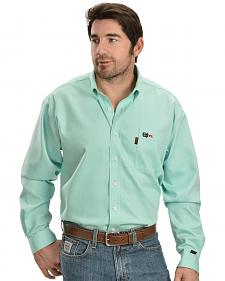 Cinch Light Green Flame Resistant Work Shirt