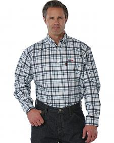 Cinch WRX Flame Resistant Navy Plaid Work Shirt