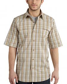 Carhartt Men's Force Plaid Short Sleeve Shirt