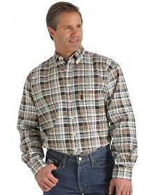 Cinch WRX Flame-Resistant Brown Plaid Shirt