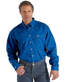 Cinch WRX Flame-Resistant Solid Royal Blue Shirt