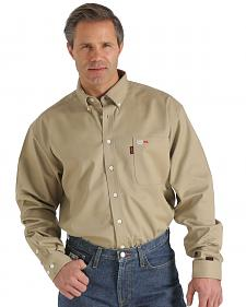 Cinch WRX Flame-Resistant Solid Khaki Shirt