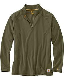 Carhartt Force Cotton Delmont Quarter Zip Long Sleeve Work T-Shirt