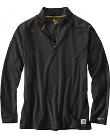 Carhartt Force Cotton Delmont Quarter Zip Long Sleeve Work T-Shirt