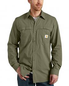 Carhartt Force Mandan Solid Long Sleeve Work Shirt - Big & Tall