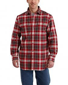 Carhartt Hubbard Plaid Flannel Shirt - Big & Tall