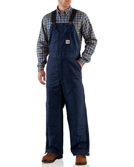 Carhartt Men's Flame-Resistant Midweight Quilt-Lined Bib Overalls