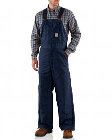Carhartt Men's Flame-Resistant Midweight Quilt-Lined Bib Overalls - Big & Tall