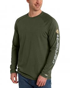 Carhartt Men's Force Cotton Delmont Long Sleeve Graphic T-Shirt