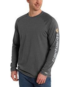 Carhartt Men's Force Cotton Delmont Long Sleeve Graphic T-Shirt