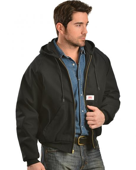 Round House Black Hooded Duck Work Jacket