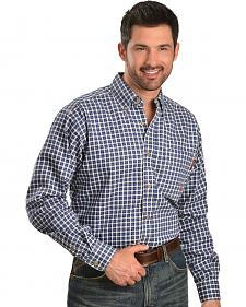 Ariat Men's Flame-Resistant Blue Windowpane Work Shirt - Big & Tall