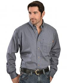Ariat Men's Flame-Resistant Blue Plaid Work Shirt - Big & Tall