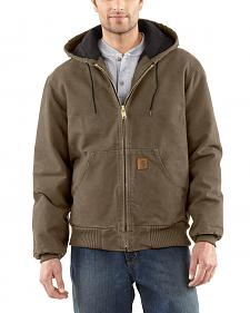 Carhartt Men's Sandstone Flannel Lined Active Jacket - Big and Tall
