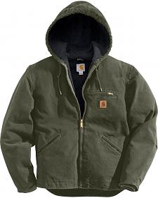 Carhartt Men's Black Cotton Duck Lined Jacket