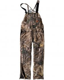 Carhartt Men's Quilt-Lined Camo Bib Overalls