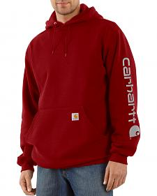 Carhartt Men's Midweight Logo Sleeve Hooded Sweatshirt