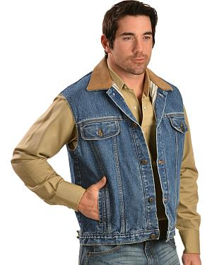 Classic Old West Styles Indigo Denim Conceal and Carry Vest
