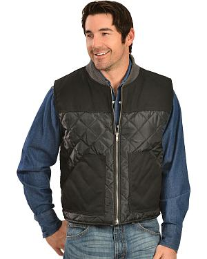 Classic Old West Styles Black Conceal and Carry Quilt Vest