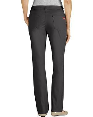 Dickies Womens Slim Fit 5-Pocket Stretch Twill Pants