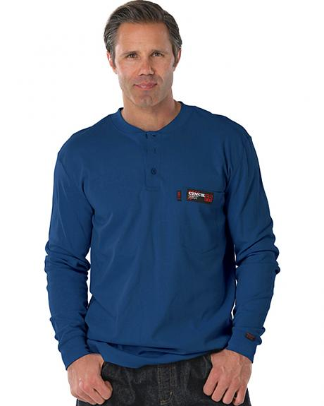 Cinch WRX Flame Resistant Long Sleeve Henley Shirt