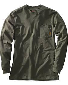 Timberland Men's Base Plate Blended Long Sleeve T-Shirt